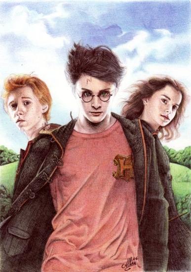 Daniel Radcliffe, Emma Watson, Rupert Grint par Allan